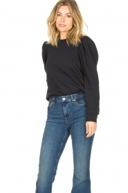 Second Female |  Sweater with puff sleeves Oriana | blue   | Picture 4
