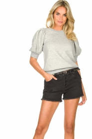 Second Female |  Sweater with puff sleeves Dawni | grey  | Picture 4
