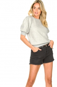 Second Female |  Sweater with puff sleeves Dawni | grey  | Picture 2