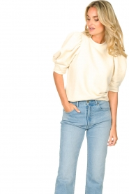 Second Female |  Sweater with puff sleeves Dawni | white  | Picture 5