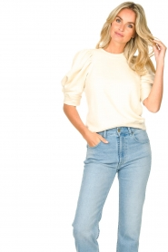 Second Female |  Sweater with puff sleeves Dawni | white  | Picture 4