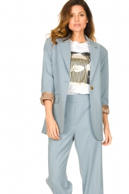 Second Female |  Oversized blazer Siana | blue  | Picture 2