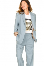 Second Female |  Oversized blazer Siana | blue  | Picture 4