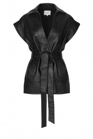Second Female    Lamb leather waistcoat Indie   black     Picture 1