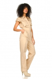 CHPTR S |  Fitted jumpsuit Forest | beige  | Picture 4