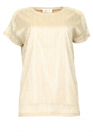 CHPTR S |  Top with lurex Casual | gold  | Picture 1