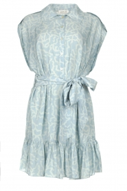 CHPTR S |  Dress with matching tie belt Maze | blue  | Picture 1