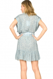 CHPTR S |  Dress with matching tie belt Maze | blue  | Picture 8