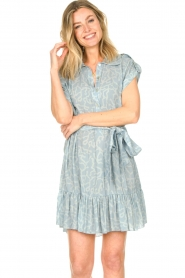 CHPTR S |  Dress with matching tie belt Maze | blue  | Picture 9