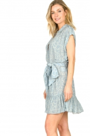 CHPTR S |  Dress with matching tie belt Maze | blue  | Picture 6