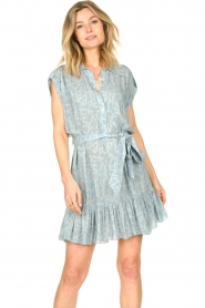 CHPTR S |  Dress with matching tie belt Maze | blue  | Picture 5