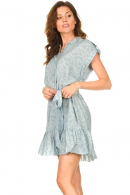 CHPTR S |  Dress with matching tie belt Maze | blue  | Picture 4