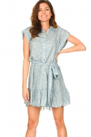 CHPTR S |  Dress with matching tie belt Maze | blue  | Picture 2