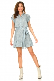 CHPTR S |  Dress with matching tie belt Maze | blue  | Picture 3