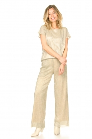 CHPTR S |  Wide lurex pants Rocky | gold  | Picture 2