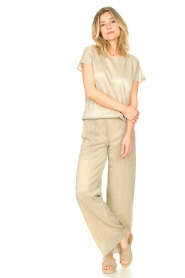 CHPTR S |  Wide lurex pants Rocky | gold  | Picture 3