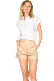 CHPTR S |  Cotton blouse Stone | white  | Picture 5