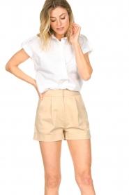 CHPTR S |  Cotton blouse Stone | white  | Picture 2