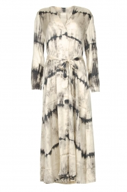Rabens Saloner |  Wrap dress with tie dye print Sandy | natural  | Picture 1