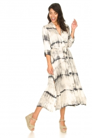 Rabens Saloner :  Wrap dress with tie dye print Sandy | natural - img3
