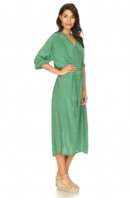 Rabens Saloner |  Midi dress with waistbelt Penny | green  | Picture 5