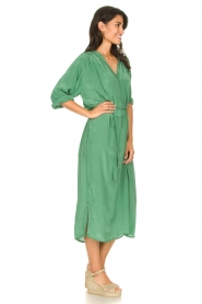 Rabens Saloner |  Midi dress with waistbelt Penny | green  | Picture 4