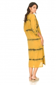 Rabens Saloner |  Caftan with tie dye print Vista | yellow  | Picture 7