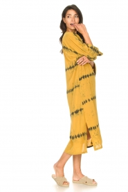 Rabens Saloner |  Caftan with tie dye print Vista | yellow  | Picture 5