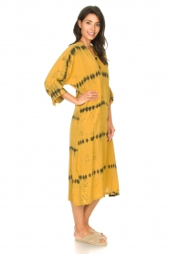 Rabens Saloner |  Caftan with tie dye print Vista | yellow  | Picture 6