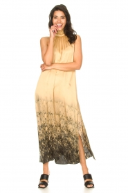 Rabens Saloner |  Maxi dress with tie dye print Hope | beige  | Picture 4