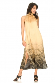 Rabens Saloner |  Maxi dress with tie dye print Hope | beige  | Picture 3