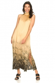 Rabens Saloner |  Maxi dress with tie dye print Hope | beige  | Picture 2