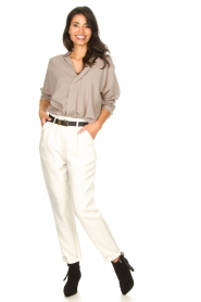 Rabens Saloner |  Loose trousers Raina | natural  | Picture 4