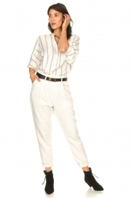 Rabens Saloner |  Loose trousers Raina | natural  | Picture 3