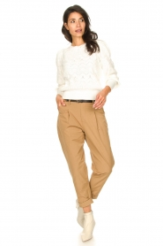 Rabens Saloner |  Loose trousers Raina | beige  | Picture 5