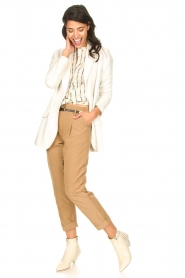Rabens Saloner |  Loose trousers Raina | beige  | Picture 3