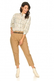 Rabens Saloner |  Loose trousers Raina | beige  | Picture 4