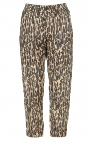 Rabens Saloner |  Cotton pants with print Lily | green  | Picture 1