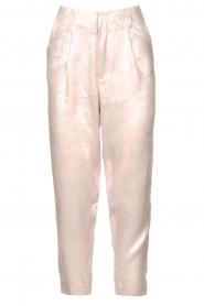 Rabens Saloner |  Shiny trousers Raina | pink  | Picture 1