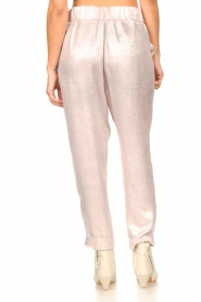 Rabens Saloner |  Shiny trousers Raina | pink  | Picture 8