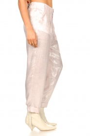 Rabens Saloner |  Shiny trousers Raina | pink  | Picture 7
