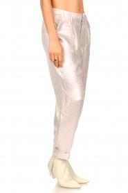 Rabens Saloner |  Shiny trousers Raina | pink  | Picture 6