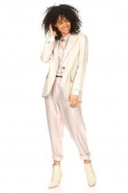 Rabens Saloner |  Shiny trousers Raina | pink  | Picture 3
