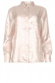 Rabens Saloner |  Shiny blouse Lia | pink  | Picture 1