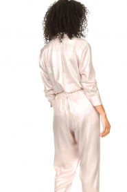 Rabens Saloner |  Shiny blouse Lia | pink  | Picture 7