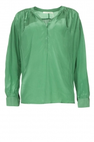 Rabens Saloner |  Oversized blouse Mag | green  | Picture 1
