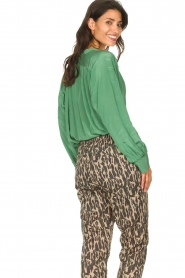 Rabens Saloner |  Oversized blouse Mag | green  | Picture 7