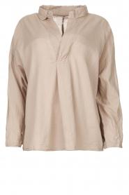 Rabens Saloner |  Oversized cotton top Jojo | grey  | Picture 1