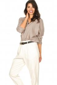 Rabens Saloner |  Oversized cotton top Jojo | grey  | Picture 4