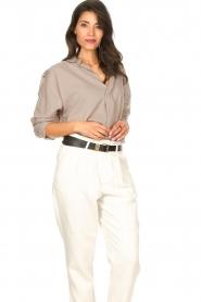 Rabens Saloner |  Oversized cotton top Jojo | grey  | Picture 5